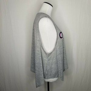 Material Girl Tops - Material Girl's Gray Graphic Handkerchief-Hem Tank